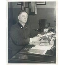 1931 Press Photo Detroit MI Louis L Berg District Police Inspector - rkf14023