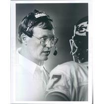 Press Photo NFL Kansas City Chiefs Head Coach Marty Schottenheimer - snb8713