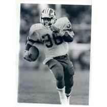 1987 Press Photo NFL Washington Redskins Running Back Timmy Smith - snb9021
