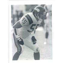 Press Photo NFL Minnesota Vikings Linebacker Jack Del Rio snb9113