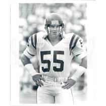 Press Photo NFL Minnesota Vikings Linebacker Scott Studwell - snb9115