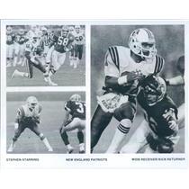 Press Photo NFL New England Patriots WR/KR Stephen Starring - snb9425