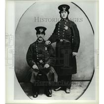 "1857 Press Photo Two members of New York's ""finest"" pose for the camera in 1857"