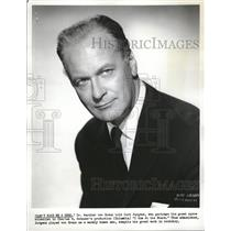 1960 Photo Actor Curt Jurgens In Dont Mae Me A Hero - RRV13351