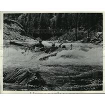 Press Photo Rafters on Salmon River, well known as the River of No Return