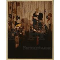 1978 Press Photo Puppet Pinocchio with evil puppet master, Frabonnini