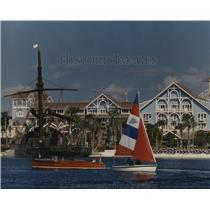 1991 Press Photo Disney World Florida Beach Club Resort along New England shore