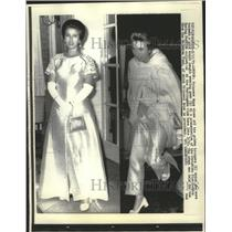 1971 Press Photo Princess Ann, England Royal Family, in evening gown, London