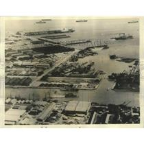 1934 Press Photo Port Area Of Manila Before Typhoon Hits The City - mjb67858
