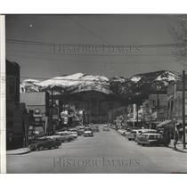Press Photo Main Street in White Fish Montana - spa85205