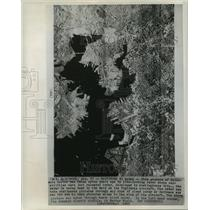 1965 Press Photo Baltimore Harbor, Aerial Radar Image - noa25578