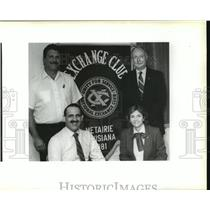 1991 Press Photo Officers of the Exchange Club of Metairie - noa25891