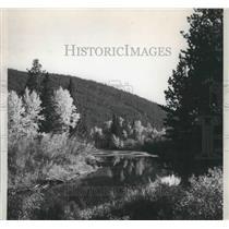 Press Photo Montana-A beautiful scene near Montana Route 20 at Lincoln