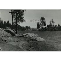 1940 Press Photo Spokane River looking east - spa97879