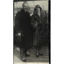 1928 Press Photo Swedes Count and Countess Carl Bonde arrive in New York City