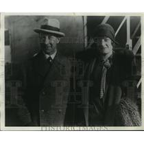 1928 Press Photo Baron and Baroness Gunhild Von Platen of Sweden in New York