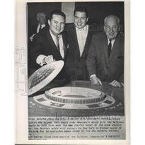 Press Photo Model of Houston Oilers New Stadium - nos03323