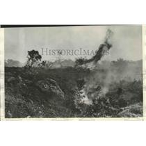 1936 Press Photo Mauna Loa Erupted Destroying all Vegetation in the Area