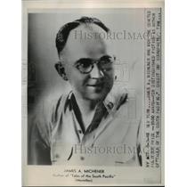1948 Press Photo James A. Michener won Pulitzer Prize for Distinguished Fiction