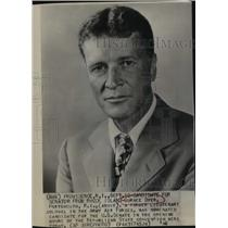 1946 Press Photo Gurnee Dyer candidate for US Senate at GOP convention in RI