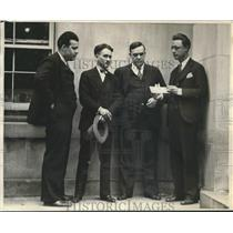 1929 Press Photo Washington TImes men Jack Nevins, G Hendricks et al - sba20290