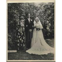 1838 Press Photo Mrs. Sarah Delano Roosevelt with John Roosevelt and bride