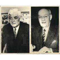 1936 Press Photo Sen LJ Dickinson of Iowa & Gov Clyde K Herring of Iowa