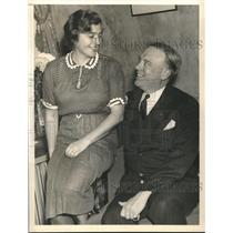 1938 Press Photo Raymond E Baldwin new Connecticut Governor & wife - sba22267