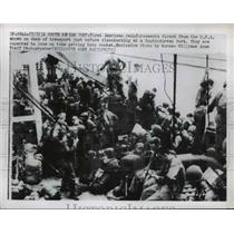 1950 Press Photo American Reinforcements disembark from South Korean port