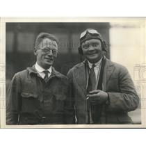 1929 Press Photo Hans Deyhle, Miguel Koyguin mechanic, pilot flew Dornier plane