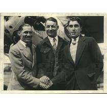 1929 Press Photo Pilots & Radio Operator Hope to Keep Plane in Air For 300 Hours