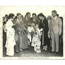 1939 Press Photo Goodwill Japanese fliers welcomed and honored in Washington