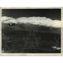 1956 Press Photo Aerial View of Planes in Sky - nem48550