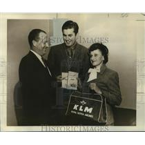 1958 Press Photo Winners of Trip to Caribbean Islands sponsored by KLM Airlines