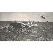 1964 Press Photo Helicopter Crashes in Field in Alabama - abna10225