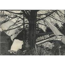 1966 Press Photo Wreckage of Plane That Crashed on Chandler Mountain, Alabama