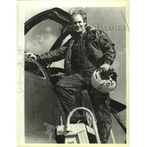 1980 Press Photo future Gordon Humphrey, pilot before eleccted Senator of N.H.