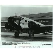 1983 Press Photo Lufthansa Airlines 1936 Junkers Ju 52 At Hamburg, West Germany.