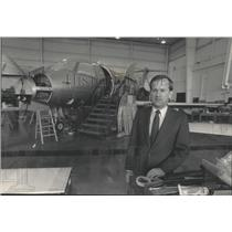 1985 Press Photo Timothy E. Hoeksema, President of KC Aviation in Appleton