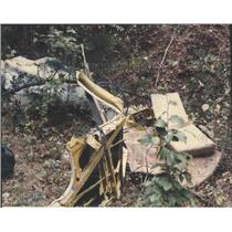 1986 Press Photo Cabin Structural Material at Site of Plane Crash in Alabama