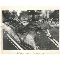 Press Photo Wreckage of Home at L'Express Flight 508 Crash Site in Alabama