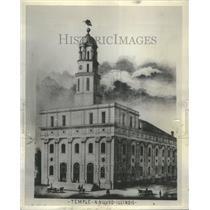 1937 Press Photo Nauvoo Temple/Native Americans/Mormons - RRU82199