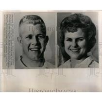 1966 Press Photo Mass Murderer Charles Whitman & Wife - RRX16889