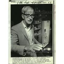 1969 Press Photo Physiology & medicine Nobel Prize winner Max Delbrueck