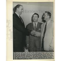1957 Press Photo Alex Hannum named Coach of the St Louis Hawks - sba23090