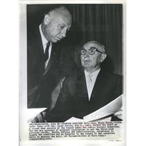 1966 Press Photo Wayne Morse Jacob Javits Senator - dfpb12319