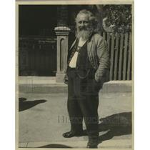 1931 Press Photo Bearded character for, Passion plays at Oberammergau