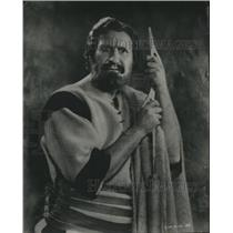 """1928 Press Photo Ernest Torrence played as an apostle in """"The King of Kings"""""""