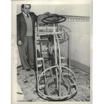 1953 Press Photo Electric bicycle to aid in polio rehabilitation, Australia