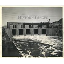 1938 Press Photo Colorado Turbulent Rapids is Released Through Parker Dam